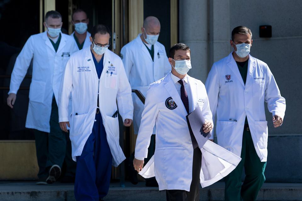 Sean Conley Trump Covid-19 treatment Walter Reed